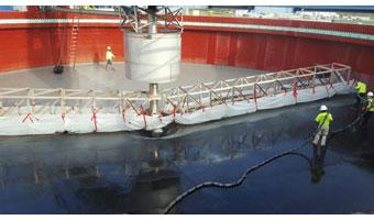 Aguas residuales y la impermeabilización fuerte con poliurea
