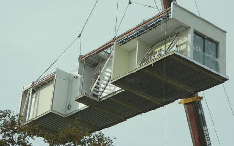 Construcción en seco steel framing por el techo