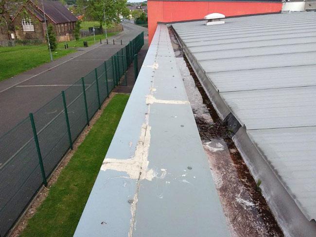 Impermeabilización de canaletas en los techos