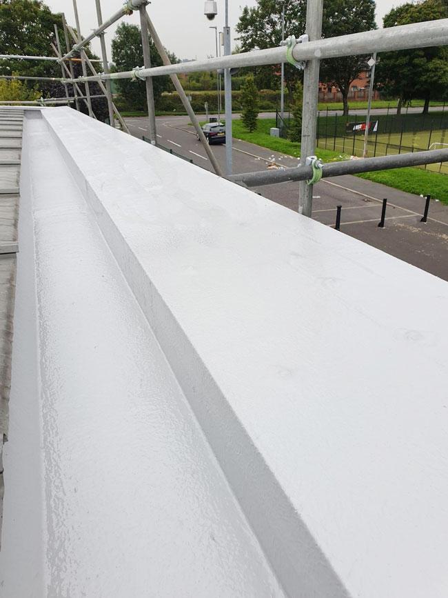 Impermeabilización de canalones y parapetos