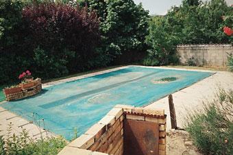 Cierre de una piscina
