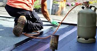 Aplicación de la membrana impermeable en el techos