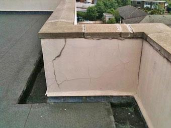 Filtraciones en la pared de la terraza