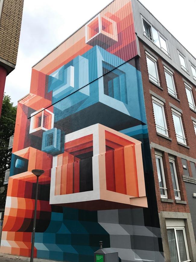 Fachadas con arte y graffitis