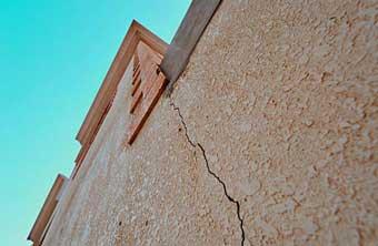 Grietas en la fachada