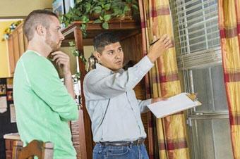 La inspección en búsqueda de humedad