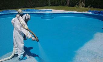 Liner para la piscina. Liner de poliurea que NO se rompe