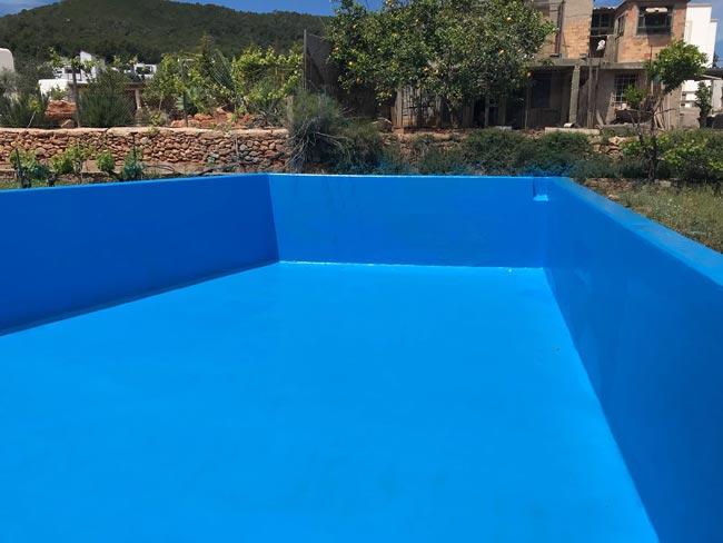 Poliurea impermeable para piscina