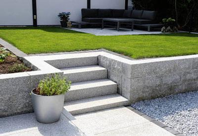 Granito para los suelos del jardín