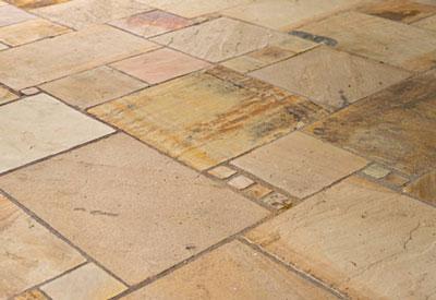 Piedra caliza para el pavimento para el patio