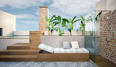 Reforma de la terraza jardín de Arturo