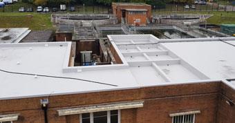 Impermeabilización de la cubierta de la planta de tratamiento
