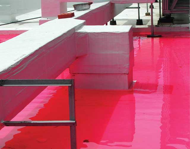 Prueba de inundación con trazador rojo