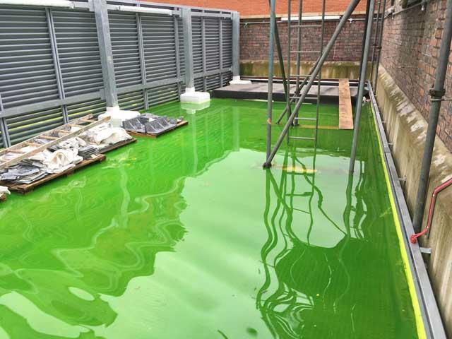 Prueba de estanqueidad con trazador verde