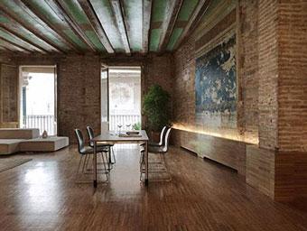 Reciclar y diseñar un moderno interior rústico