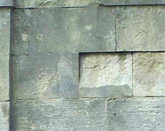 Revestimientos de la fachada y los defectos en la cantería