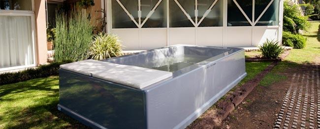 Una piscina para interiores
