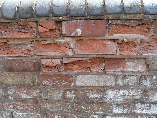 Vicios constructivos en los muros de mampostería