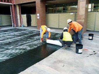 Impermeabilización de plazas y espacios abiertos