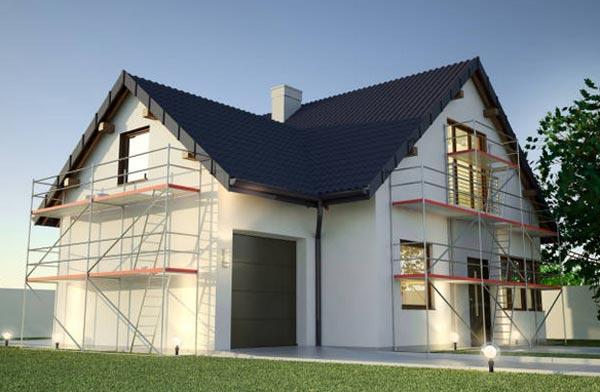Trabajos de impermeabilización en la fachada