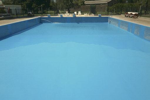 Impermeabilización y reparación de una piscina deportiva